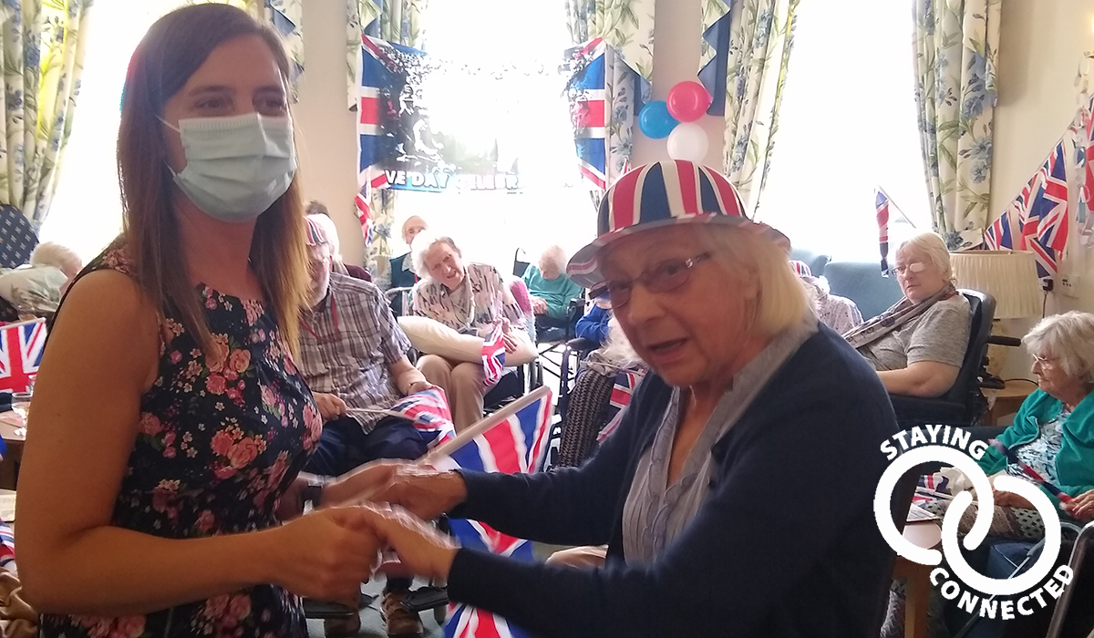 Beauchamp Country House care home on VE Day 2020