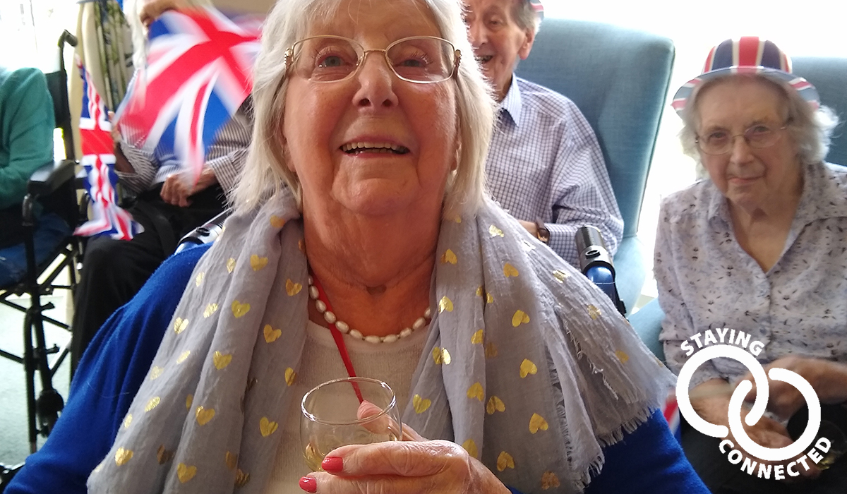 Buxton House care home on VE Day 2020