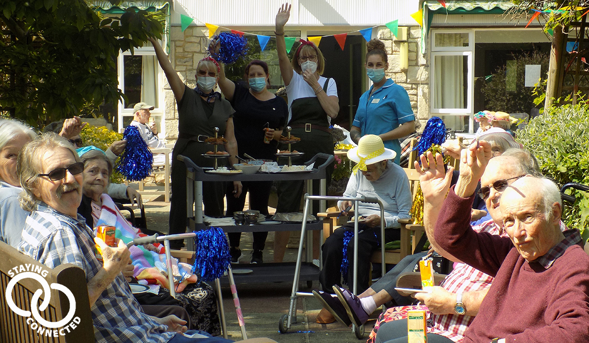 Dorset House care home on VE Day 2020