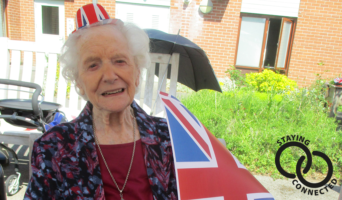 Fern Brook Lodge care home on VE Day 2020