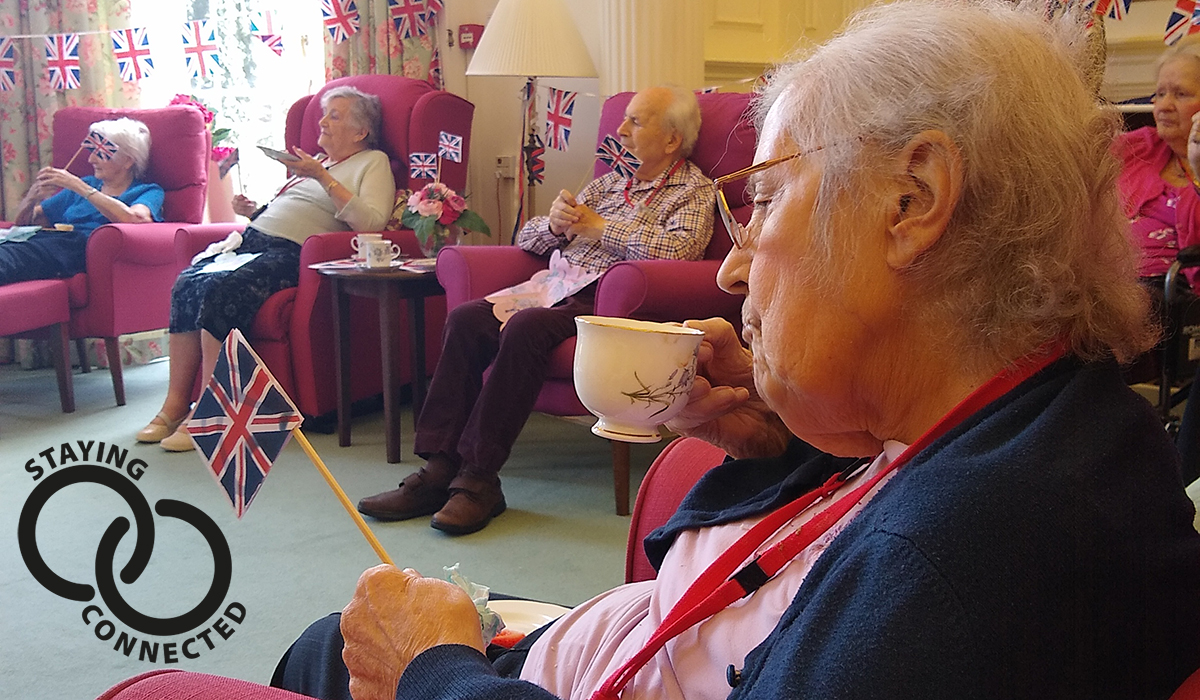 Fremington Manor Country House care home on VE Day 2020