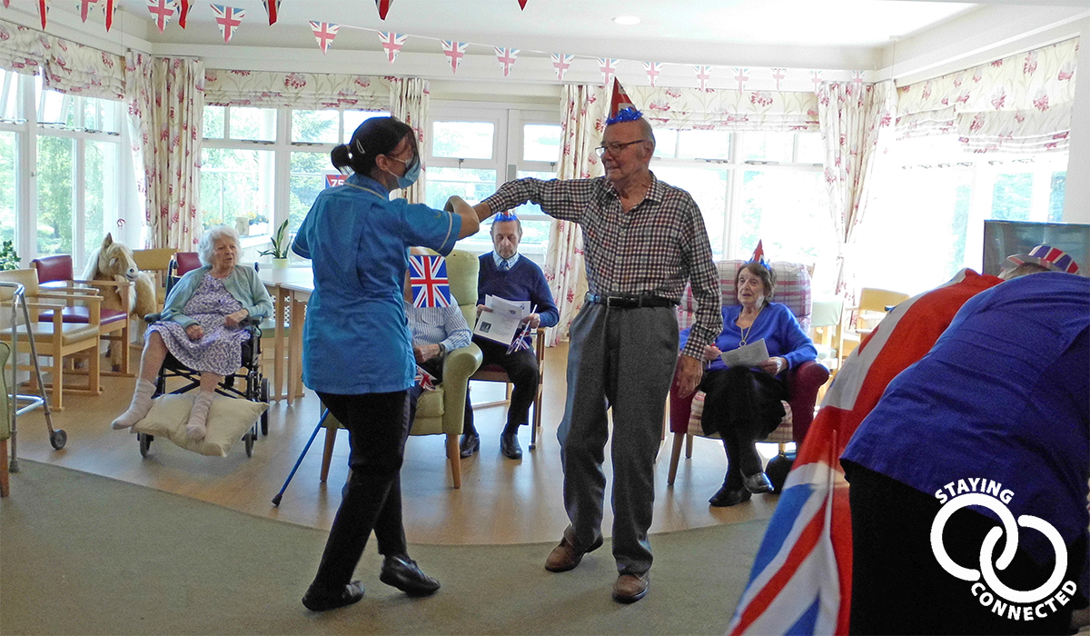 Kenwith Castle Country House care home on VE Day 2020