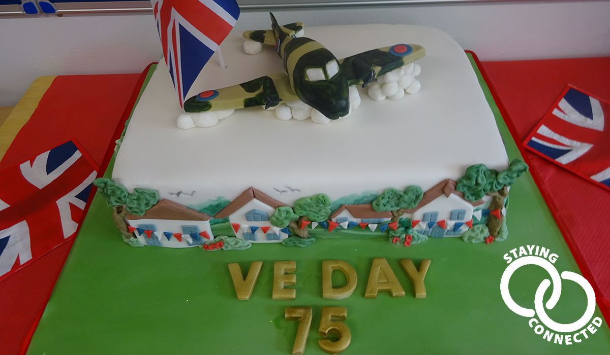 Sussexdown Country House care home on VE Day 2020