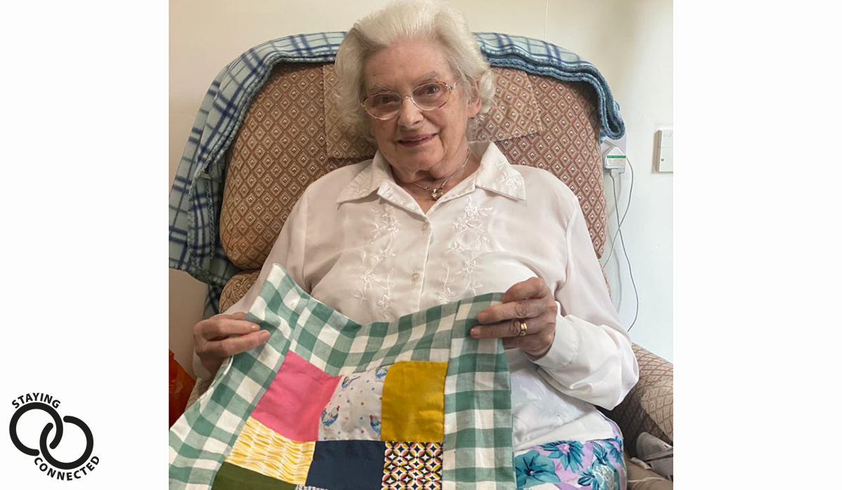 Maiden Castle House receives homemade quilts