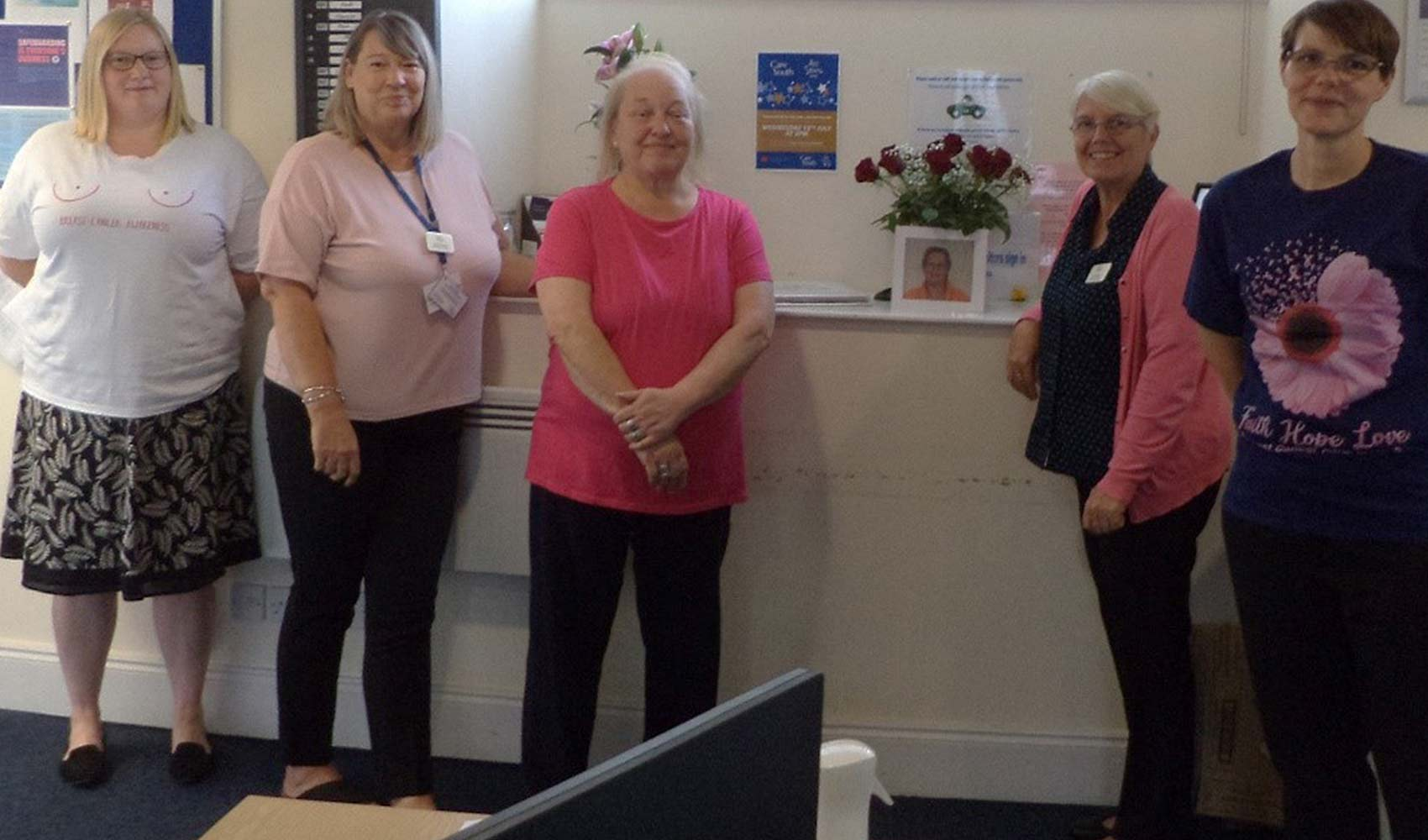 Care at Home teams remember colleague with pink fundraiser