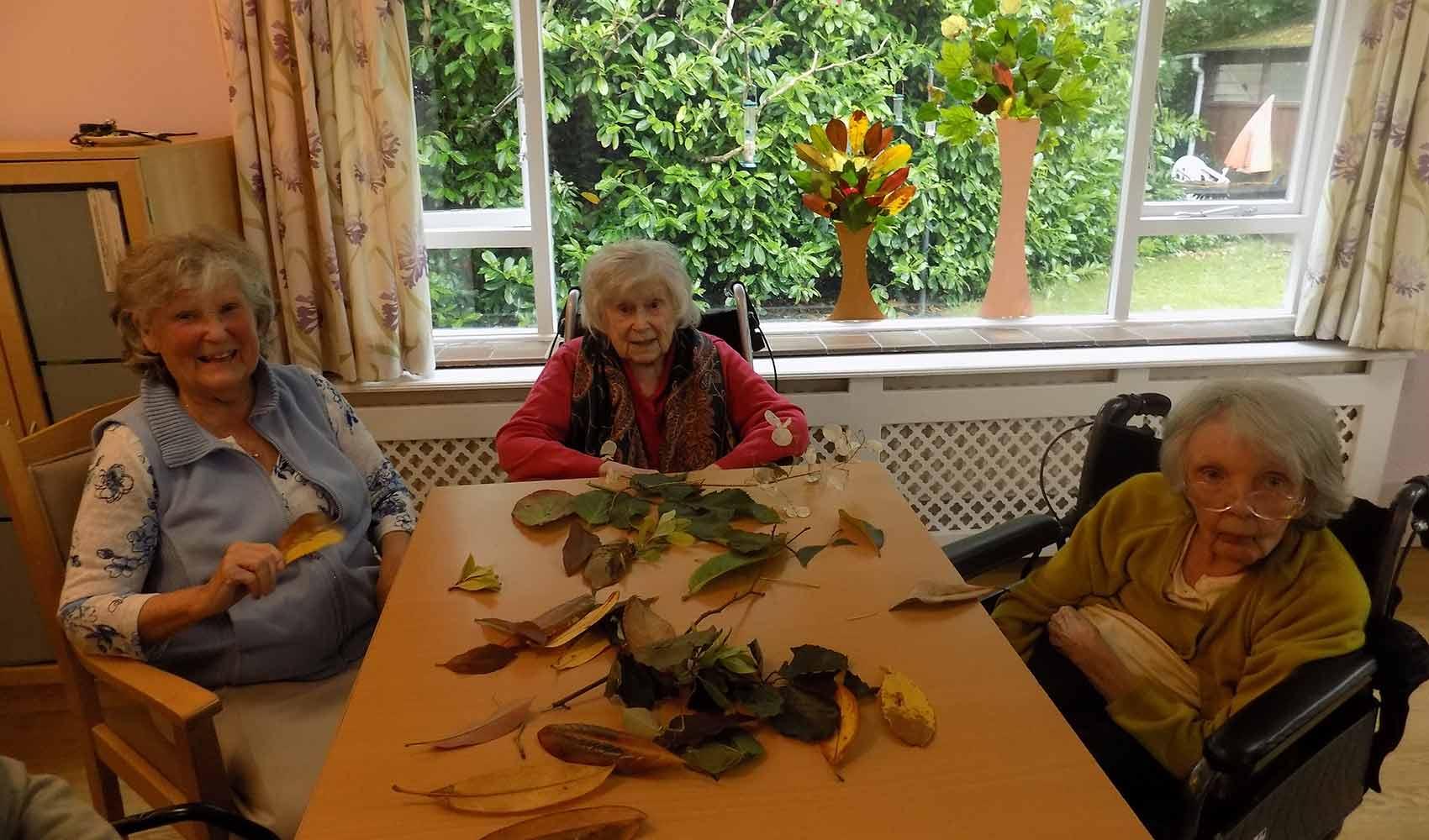Autumnal crafts at Dorset House