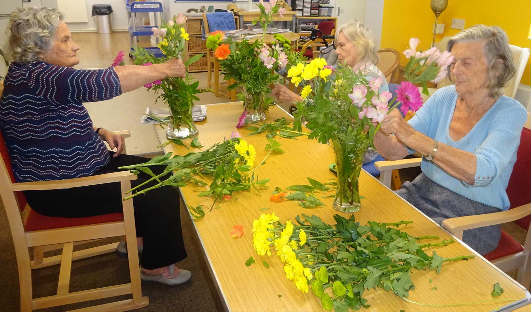 Sussexdown residents brighten up their home with flower arrangements