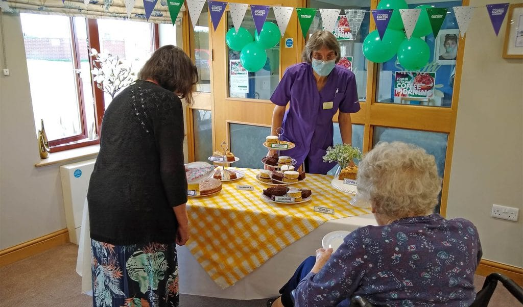 Fern Brook Lodge care home, Gillingham, Macmillan coffee morning
