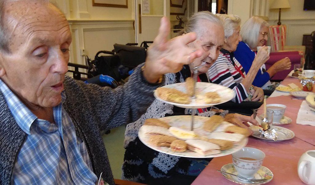 Fremington Manor care home, Barnstaple, sandwich day