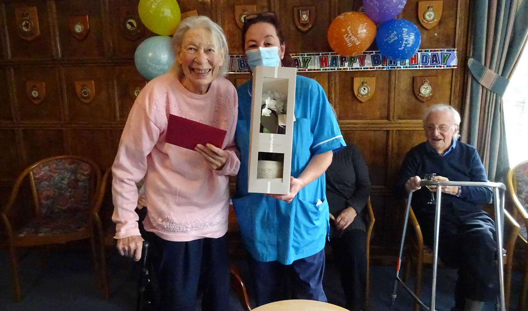 Dorothy's birthday at Sussexdown care home