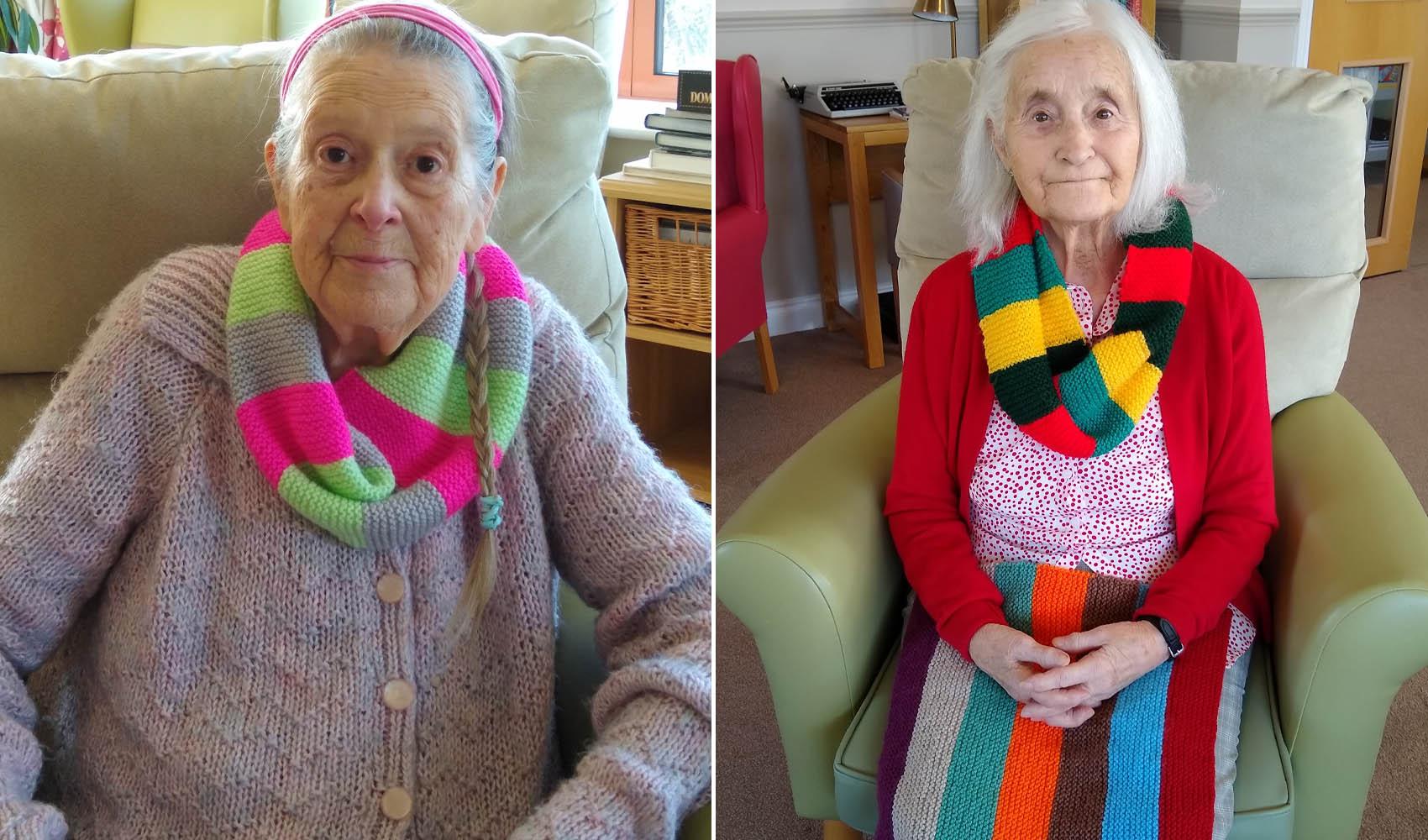 Fern Brook Lodge care home, Gillingham, Dementia Friends knitting